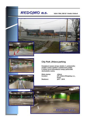 FL-(B-07) - Jihlava - OC City Park - Opravy parkingu - 01