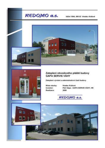 Zateplení – Stavby občanské vybavenosti a pro průmysl